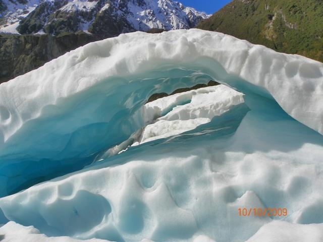 Arcos en el Glaciar Fox