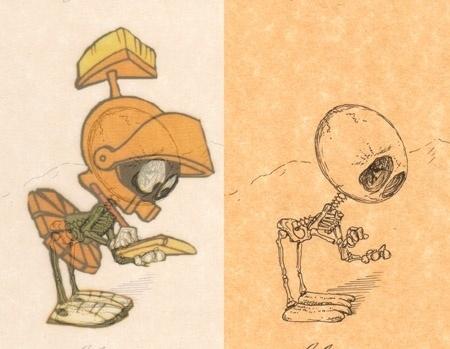 kartun dan tengkorak