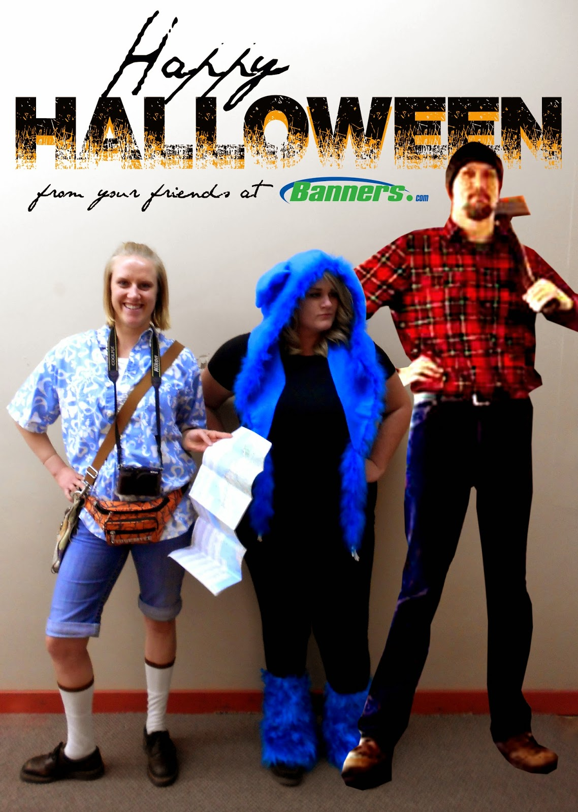 The Tourist, Babe the Big Blue Ox, and Paul Bunyan Halloween Costumes