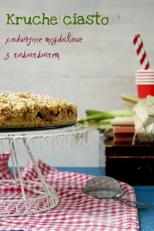 Kruche ciasto migdałowe z rabarbarem i marcepanem