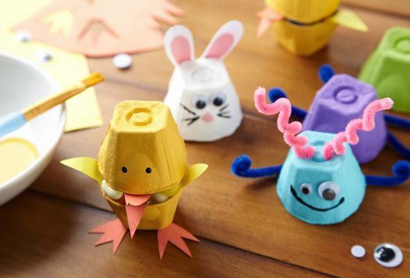 Mommy blog expert easter diy crafts eco egg carton ideas Egg tray craft ideas