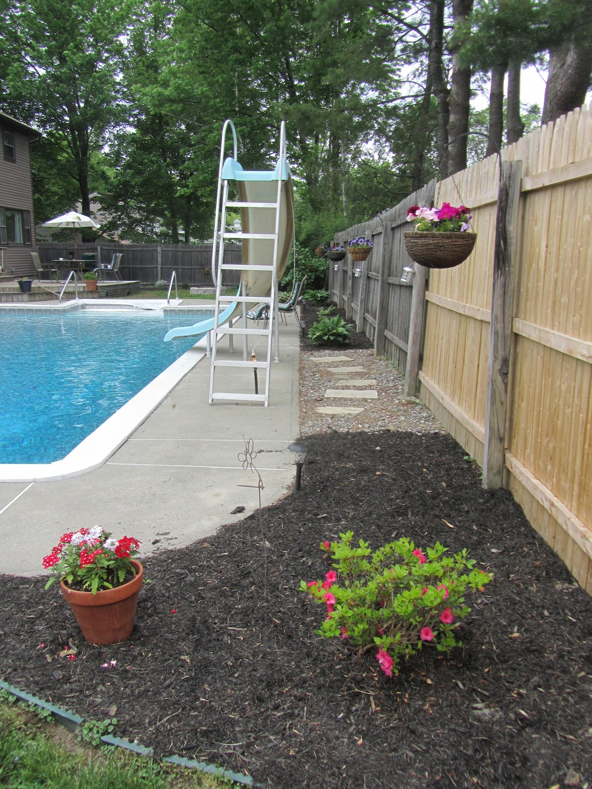 Jill of all trades master of none backyard makeover for Backyard makeover with pool