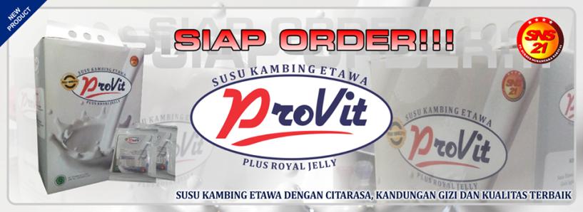 Jual Susu Kambing Etawa Provit produk dari SNS 21 Pontianak dengan Harga Murah langsung dikirim dari Pusatnya.  Jangkauan wilayah pengiriman untuk Susu Kambing Etawa Provit Pontianak adalah sebagai berikut :
