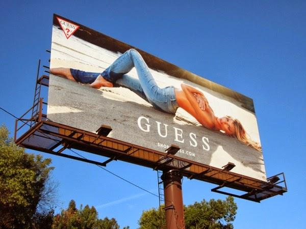 Guess Jeans Danielle Knudson SS14 beach billboard