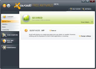 Avast! Free Antivirus 7.0.1473