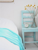 habitaciones color turquesa blanco