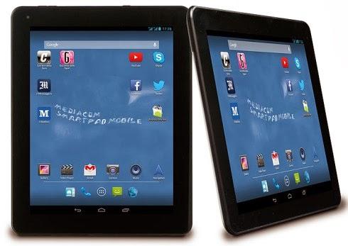 Spessore di 10,5 mm e peso di 667 grammi per un design abbastanza anonimo senza punti di forza per questo tablet mediacom