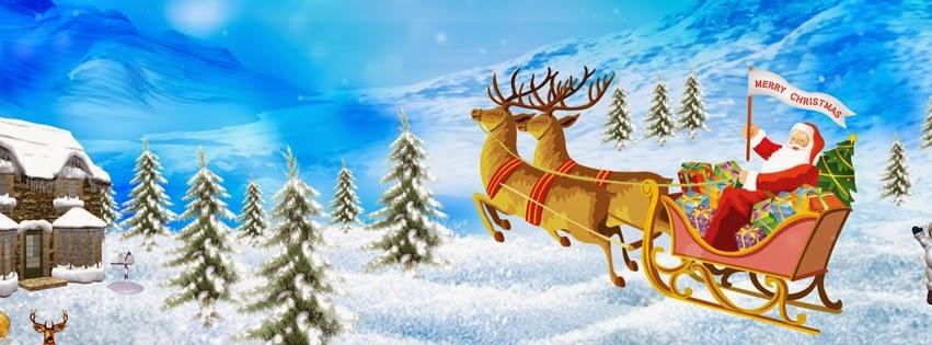 Božićne slike - irvasi i deda mraz