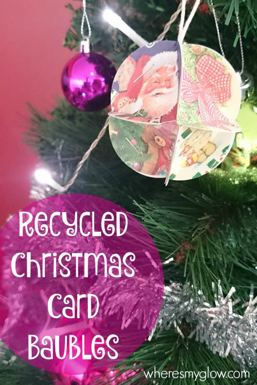 Where 39 s my glow how to recycle old christmas cards in for How to recycle old christmas cards