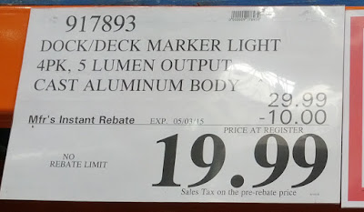 Deal for the Manor House Solar LED Marker Lights at Costco
