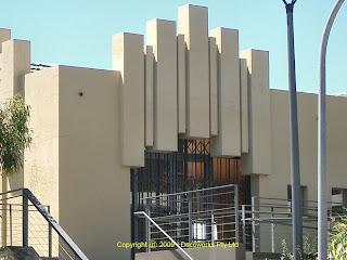 Incinerator facade