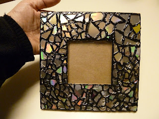 cd mosaic picture frame