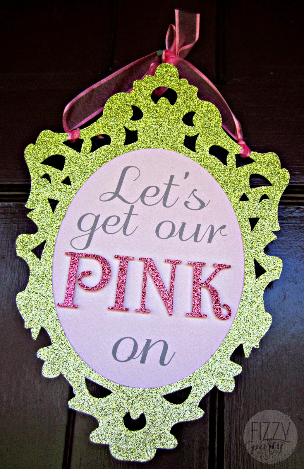 Pink Party door sign by Kristyn's Kreations