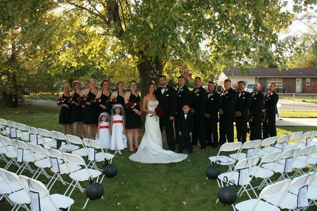 Simply Salvaged our DIY backyard wedding