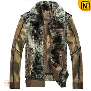 leather fur jacket