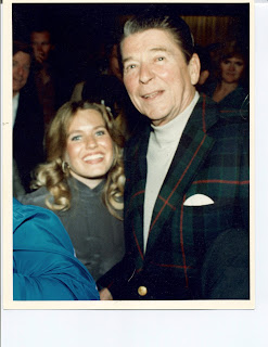 Charlotte Laws and President Ronald Reagan