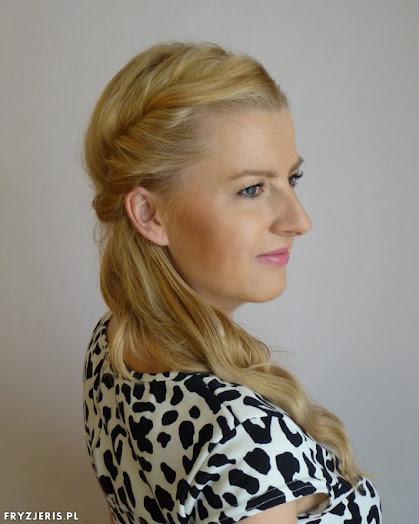 Elegancka fryzura na opasce - film - zdjęcie