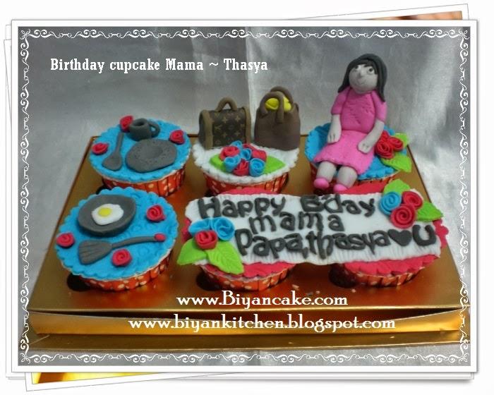 Cupcake ulang tahun Mama ~ Thasya