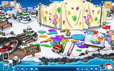 Club Penguin Extreme Paint Festival Mini-Party