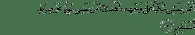 Surat Al-Mulk Ayat 22