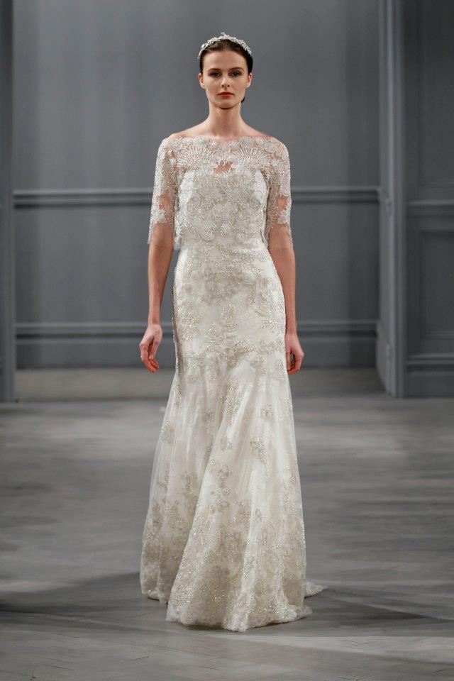 Monique lhuillier bridal collection spring 2014 fatallyborn for Jessica designs international wedding dresses