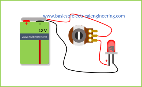 led dimmer using the potentiometer boee tutorial 2 basics ofhow to use potentiometer as led dimmer