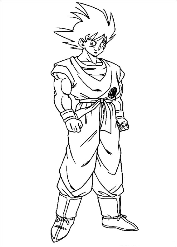 Desenhos Preto e Branco Dragon ball z goku  Colorir