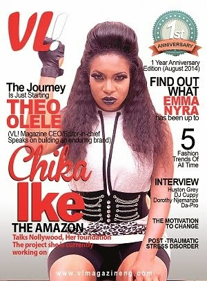 Nollywood Actress Chika Ike Covers The 1 Year Annivasery Edition Of VL! Magazine Nigeria