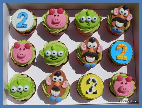 Toy Story Temalı Örnek Cupcake Modelleri
