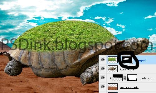 tutorial menggabungkan gambar ohh turtle
