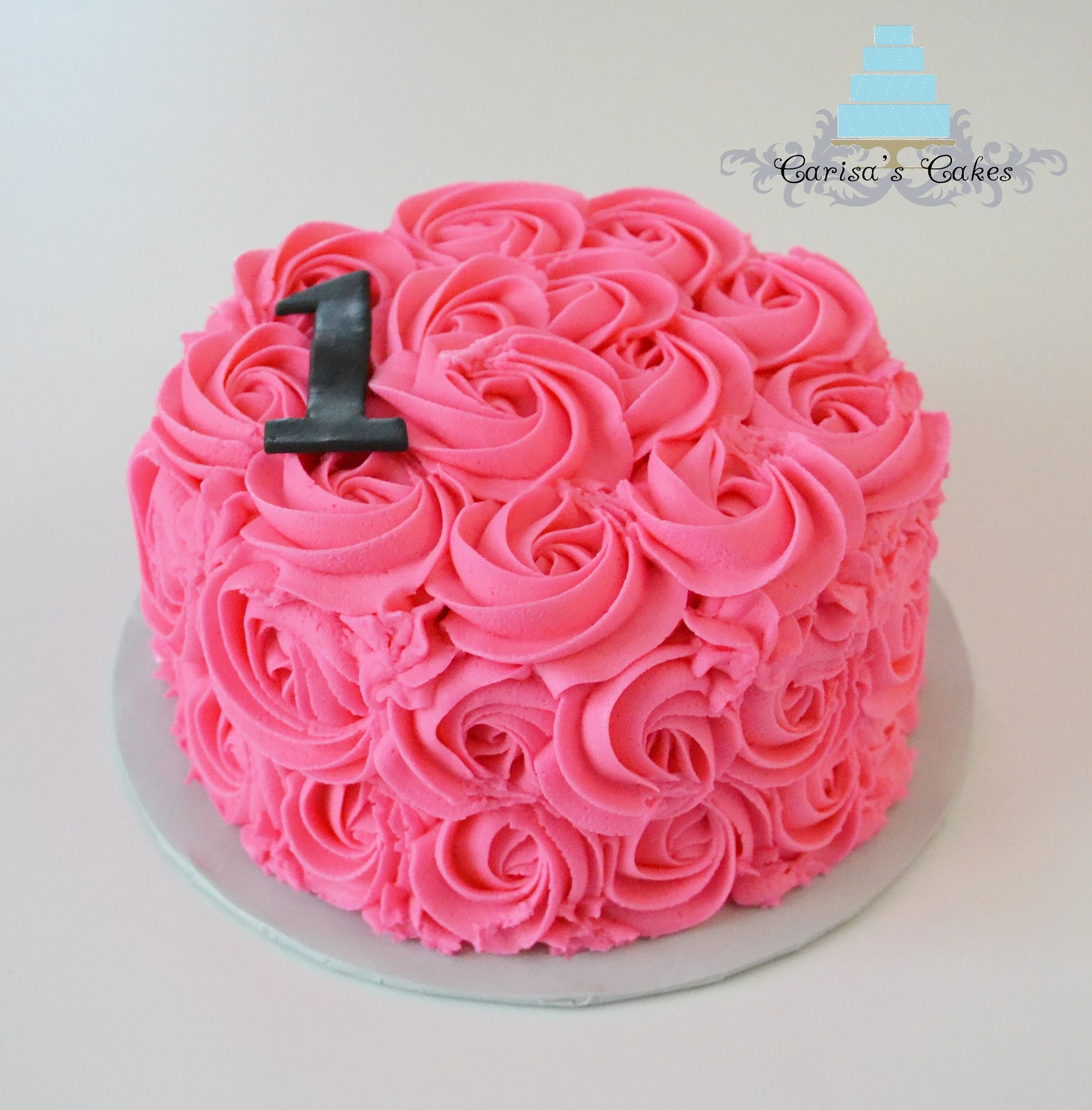 Cake Images Rose : Carisa s Cakes: Rose swirl smash cake