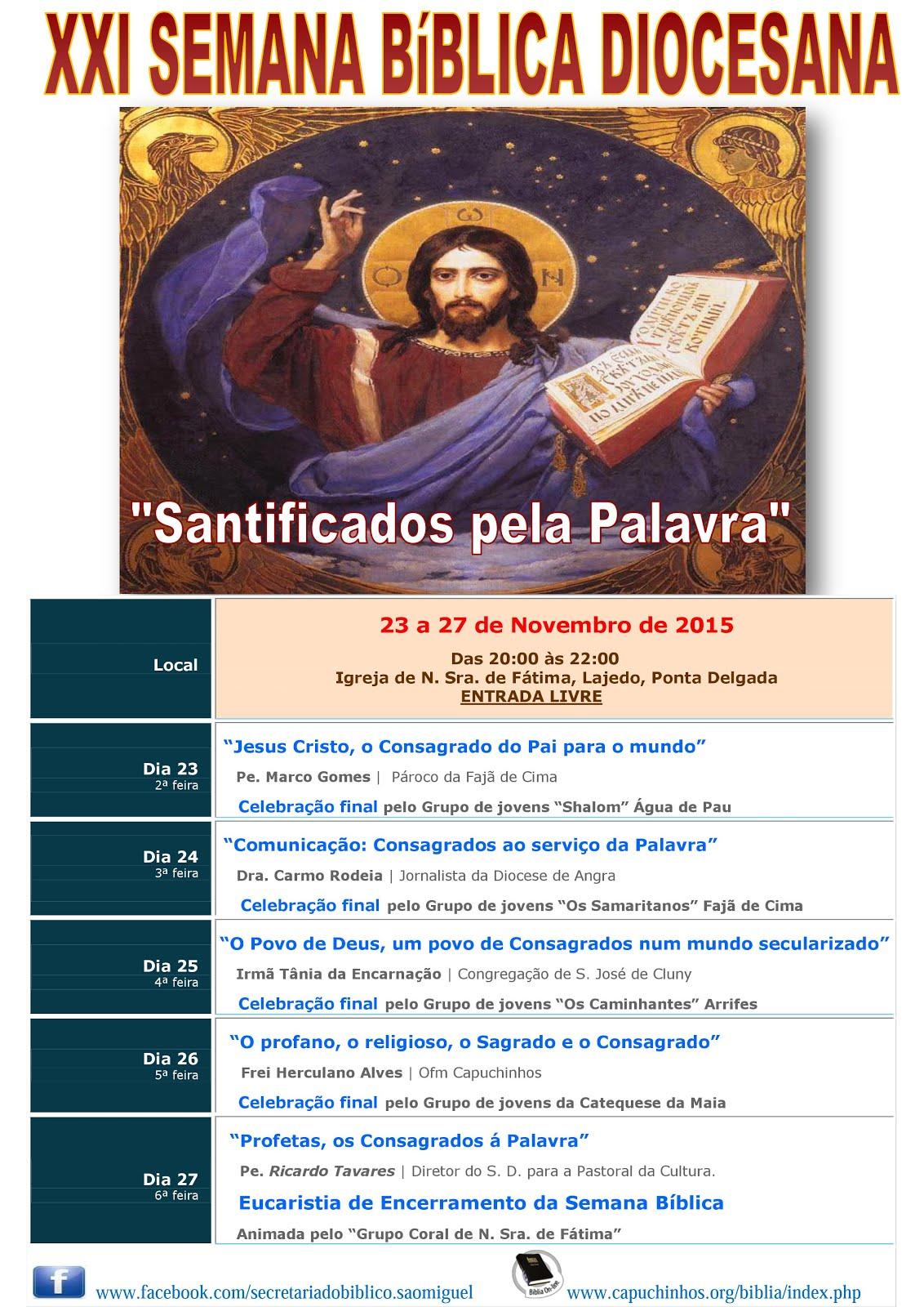 XXI Semana Bíblica Diocesana em São Miguel