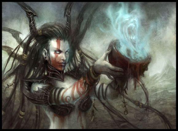 mike lim daarken ilustrações fantasia medieval violência batalhas monstros arte conceitual video games Feiticeira de sangue