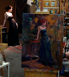 Janet 39 s art studio live model oil painting studio 30 for Canvas painting classes