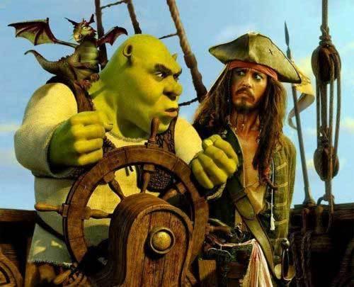 Johnny Depp en Shrek Tercero