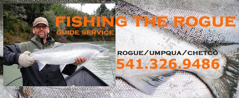 A Rogue River, Oregon Fishing Guide Service offering Salmon and Steelhead Trips and Fishing Reports