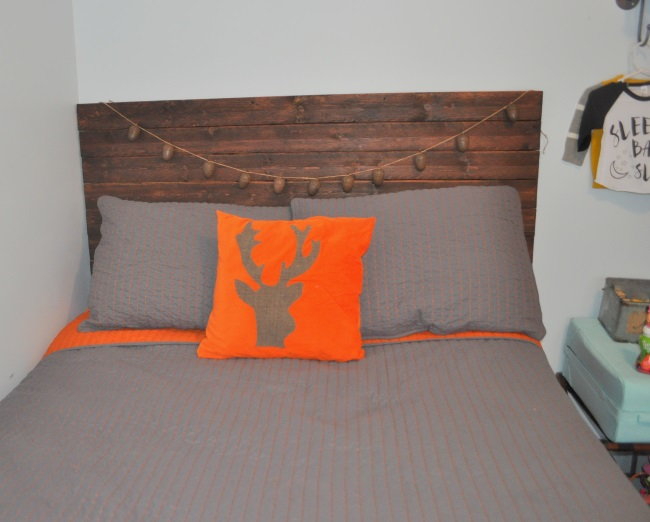 easy diy wooden headboard