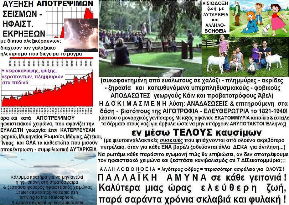Θάρρος! Ξανά ΑΥΤΑΡΚΗ χωριά-ΕΝΙΑΙΟ ψηφοδέλτιο:ΑΜΥΝΑ σε μοναρχικ.παράσιτους-ΑΠΟΤΡΟΠΗ ηφαιστ.χειμώνα!