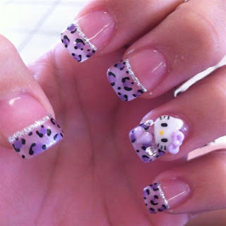 Cute And Attractive Hello Kitty Nail Art