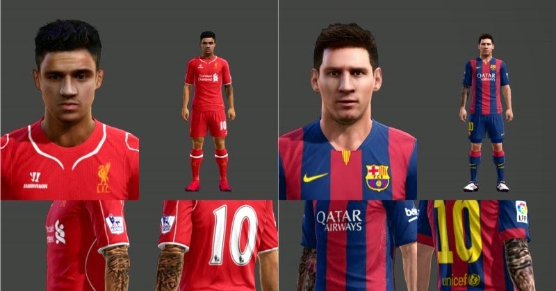 PES-MODIF: PES 2013 Coutinho & Messi Face with Tattoo by digga