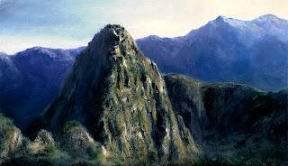 Machu Picchu oil painting