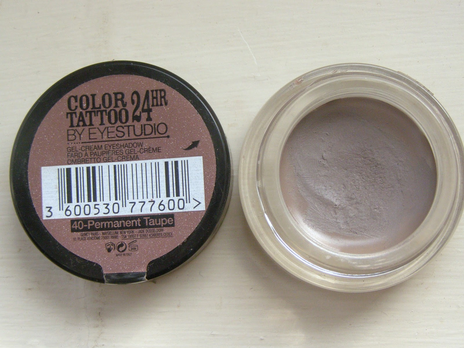 Maybelline Colout Tattoo Cream Eyeshadow in Permanent Taupe