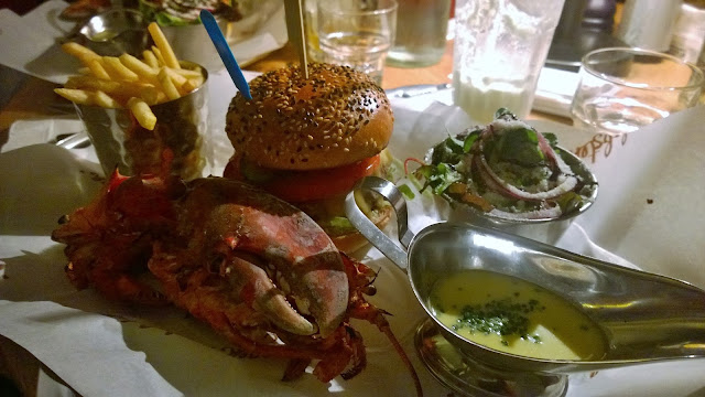 Burger and lobster Bath