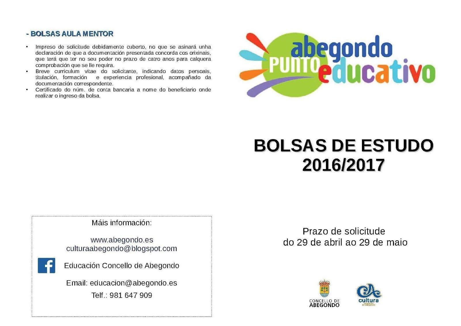Bolsas de Estudo 2016/2017