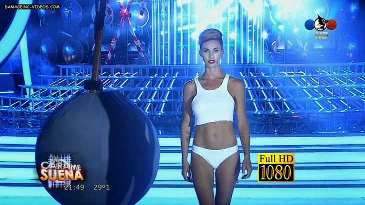 Argentinia Model Rocio Guirao Diaz in underwear as Miley Cyrus HD video