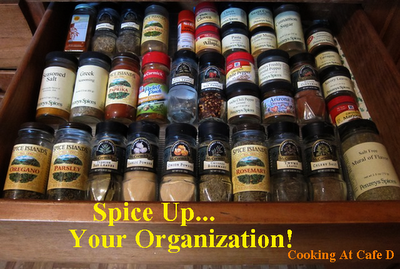 Organizing Your Spice Drawer - Cheaply