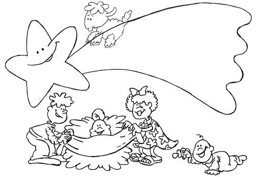 Blog megadiverso dibujos de estrellas para pintar y colorear - Dibujos para pintar navidad ...