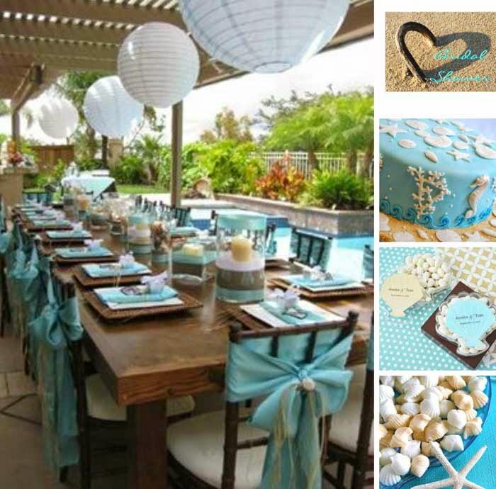 Blue Wedding Shower DIY Decor