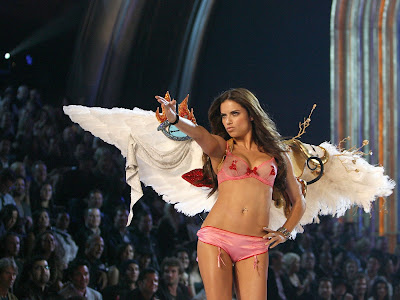 Adriana Lima, salah satu model Victoria's Secret yang sangat menggemari olahraga tinju