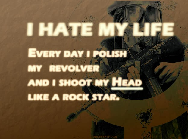 Sms with Wallpapers: I hate my life wallpapers